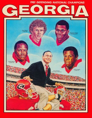 1981 georgia bulldogs defending national champions art by Row One Brand