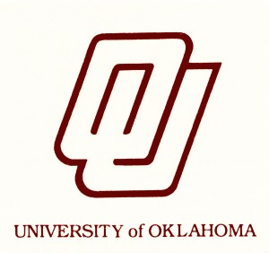 1981 university oklahoma interlocking ou art design reproduction wall art retro college metal signs by Row One Brand