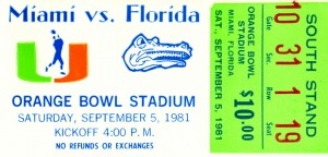 1981 Miami vs. Florida by Row One Brand