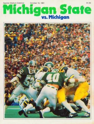 1981_College_Football_Program_Cover_Art_Michigan_State_MSU_Spartans_Spartan_Stadium by Row One Brand