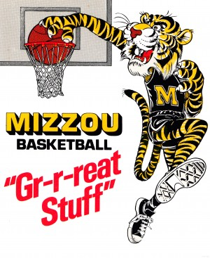 1982 Missouri Tigers Basketball Poster by Row One Brand