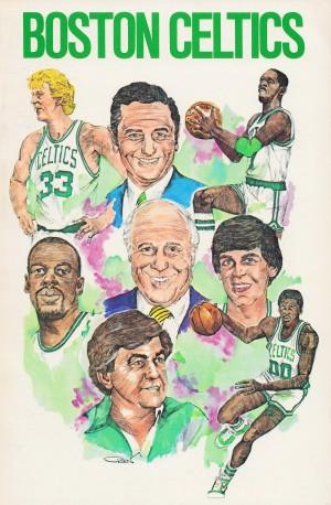 1982 boston celtics art print by Row One Brand