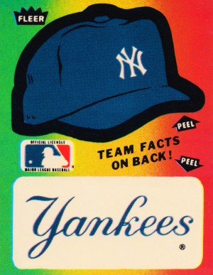 1982 fleer sticker new york yankees hat by Row One Brand