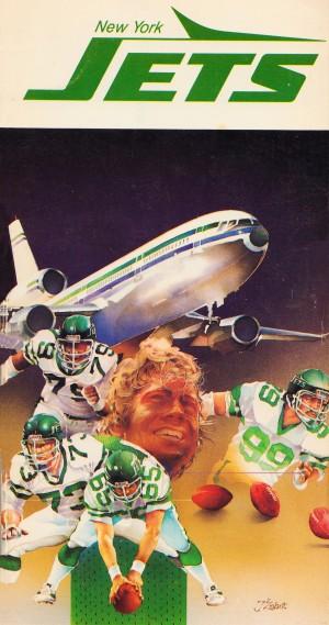 1982 new york jets art artist george zebot by Row One Brand