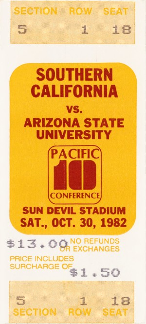 1982 usc arizona state sun devils football by Row One Brand