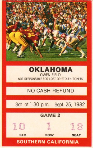 1982 USC vs. Oklahoma by Row One Brand