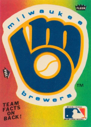 1983 fleer baseball stickers milwaukee brewers sticker poster by Row One Brand