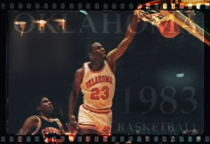 1983 oklahoma sooners basketball wayman tisdale jersey number 23 slam dunk by Row One Brand