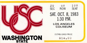 1983 Washington State vs. USC by Row One Brand