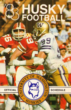 1983 washington husky football poster by Row One Brand