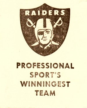 1983 National Football League Los Angeles Raiders Pro Sports Winningest Team by Row One Brand