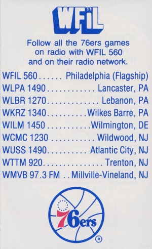 1983_WFIL Radio Ad_Philadelphia 76ers Poster_Row One Brand Vintage Sports Ads by Row One Brand