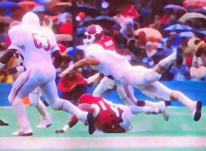 1984 College Football Oklahoma Sooners Wishbone Offense_Red River Rainstorm by Row One Brand