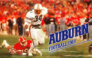1984 auburn football bo jackson poster by Row One Brand
