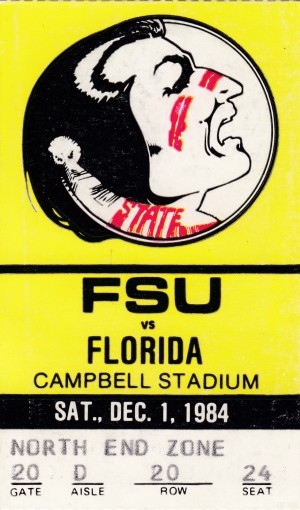 1984 FSU vs. Florida by Row One Brand