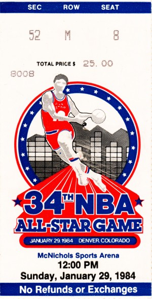 1984_National Basketball Association_All Star Game_McNichols Arena_Denver Gift Ideas Online by Row One Brand