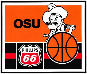 1985 osu cowboys phillips 66 gas metal sign by Row One Brand