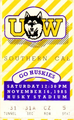 1985 Washington vs. USC by Row One Brand
