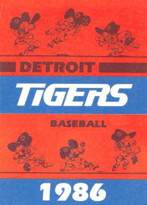 1986 detroit tigers baseball art by Row One Brand