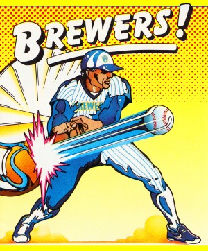 1986 milwaukee brewers baseball poster  by Row One Brand