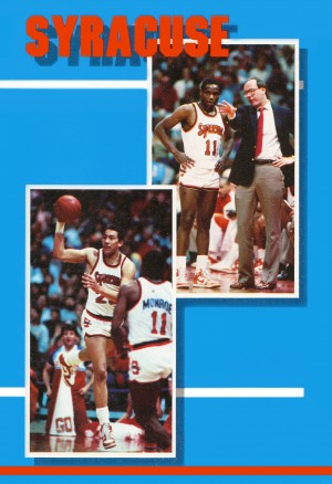 1986 syracuse basketball greg monroe jim boeheim photo by Row One Brand