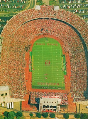 1986 Ohio Stadium Poster Columbus by Row One Brand