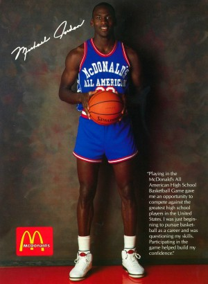 1987 McDonalds Michael Jordan Ad Poster by Row One Brand
