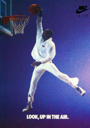 1987 Reproduction Nike Ad Michael Jordan Poster Row One by Row One Brand