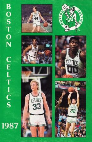 1987 boston celtics art by Row One Brand