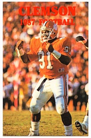 1987 clemson tigers college football retro 80s posters by Row One Brand