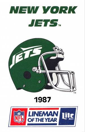 1987 new york jets vintage nfl poster by Row One Brand