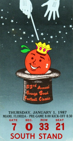 1987 Oklahoma Sooners Orange Bowl Champions by Row One Brand