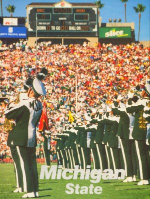 1988 michigan state spartans marching band art poster by Row One Brand