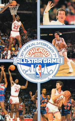 1988 nba all star game chicago bulls art reproduction by Row One Brand