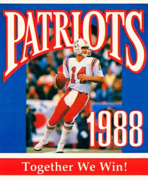 1988 new england patriots together we win by Row One Brand
