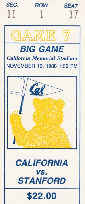 1988 Cal vs. Stanford by Row One Brand