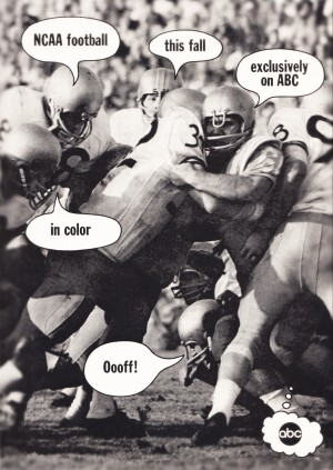 ABC Sports Television Vintage College Football Advertisement Poster by Row One Brand