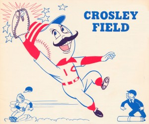 Baseball_Scorecard_Remixed_Sports_ArtCincinnatti_Reds_Crosley_Field_Ohio_Metal_Sign by Row One Brand