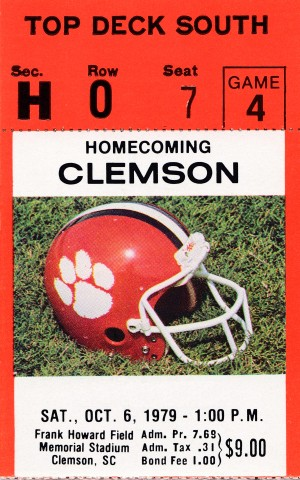 Clemson Tigers Homecoming Ticket Stub Wall Art by Row One Brand