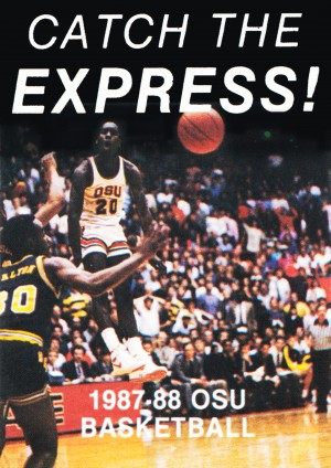 College Basketball Posters Gary Payton Oregon State University Basketball 1987 by Row One Brand
