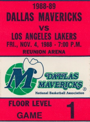 Dallas Mavericks Basketball Ticket Stub Wall Art Print_Sports Ticket Reproduction by Row One Brand
