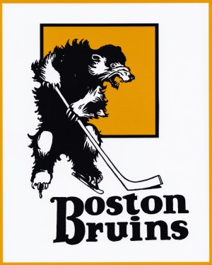 Early Boston Bruins Hockey Program Cover Art Reproduction Poster by Row One Brand