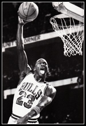Michael Jordan Black White Poster by Row One Brand