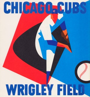 Retro_Remix_Sports_Program_Scorecard_Posters_Row_One_Chicago_Cubs by Row One Brand