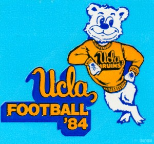 UCLA Bruins Football Art_Retro 1980s College Football Wall Art_Row One Brand Sports Art by Row One Brand