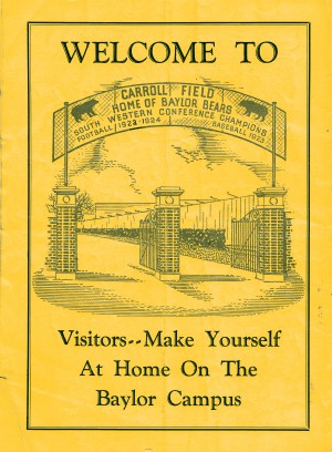 Vintage Baylor Bears Carroll Field Poster (1935) by Row One Brand