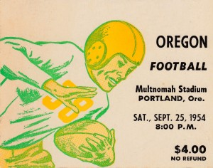 Vintage College Football Art Oregon Ducks Wall Art Ticket Stub Reproduction by Row One Brand