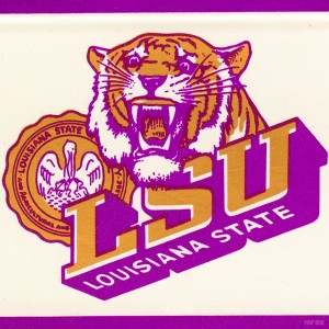 Vintage LSU Art by Row One Brand