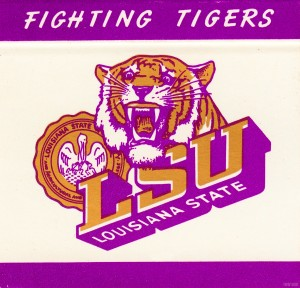 Vintage LSU Louisiana State Tigers Art Reproduction by Row One Brand