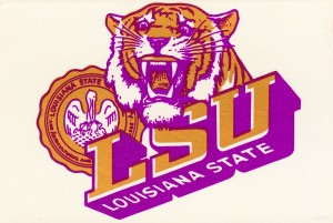 Vintage LSU Tigers Art by Row One Brand